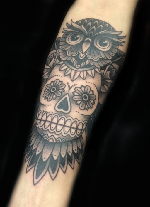 Tattoo_Ben_groningen_owl_old_school_traditional